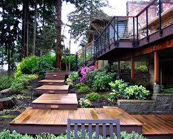 SUSIE LANDSCAPE Designs - Portfolio Landscaping Design For Small Spaces Best Sloped Backyard Deck Deck Plans Hgtv Taming A Slope Sunset Best 25 High Ideas On Pinterest Railings Diy Storage Sloping Sloped Backyard Designs Decks How To Build Floating 3 Steps Under Foot Outdoor Flooring Buyers Guide Make Dynamic Statement With Multilevel Gardening Building 24 X 20 Steep Slope Backyards And Design Ideas Interior