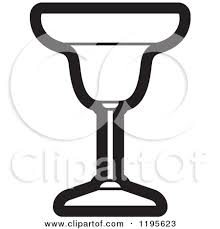 Black And White Margarita Glass By Lal Perera