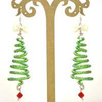 How To Make Wire Christmas Tree Earrings With Seed Beads Pandahall