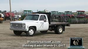 100 Chevy 1 Ton Truck For Sale 846I 976 Cheyenne Pickup With 9 Foot Steel Flatbed