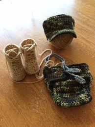 Army Camo Bathroom Set by Us Army Camo Set Crochet Military Style Patrol Cap Diaper