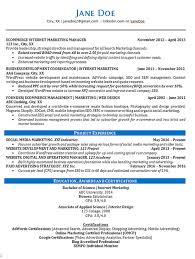 Online Marketing Resume Sample