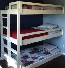 triple bunk bed plans build furniture reference pictures ideas
