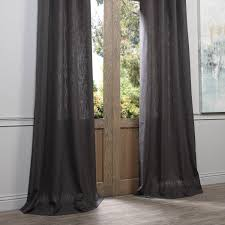 108 Inch Navy Blackout Curtains by Slate Grey Grommet Heavy Faux Linen Curtain U0026 Drapes