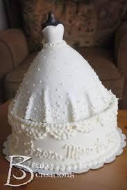 cake made like a wedding dress
