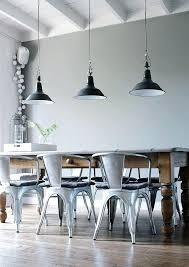 Industrial Dining Light Style Room With Pendant Lamps En In Ca Table