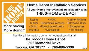 Home Depot Installation Services Toccoa Georgia