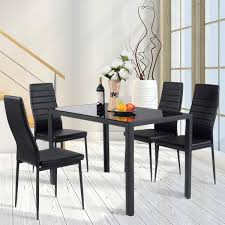 Giantex 5 Piece Kitchen Dining Table Set With Glass Table Top Leather  Padded 4 Chairs And Metal Frame Table For Breakfast Dining Room Kitchen ... Santa Clara Fniture Store San Jose Sunnyvale Buy Kitchen Ding Room Sets Online At Overstock Our Best Winsome White Table With Leaf Bench Fancy Fdw Set Marble Rectangular Breakfast Wood And Chair For 2brown Esf Poker Glass Wextension Scala 5ps Wenge Italian Chairs Royal Models All Latest Collections Engles Mattress Mattrses Bedroom Living Floridas Premier Baers Ashley Signature Design Coviar With Of 6 Brown