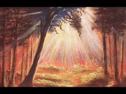 Drawing Forest Sun Ray With Soft Pastels