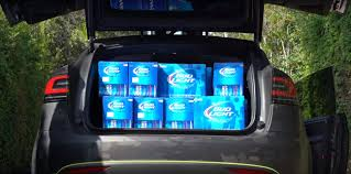 100 Bud Light Truck Tesla Driver Fits 1920 Cans Of In Model X Runs Into