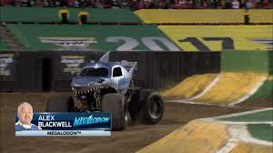 100 Monster Truck Backflip Jam On Twitter First Up Is Alex Blackwell In Megalodon And