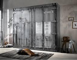 details zu kleiderschrank schlafzimmerschrank container optik industrie design loft möbel