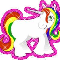 Cute Rainbow Glitter Unicorn Pic Photo GlitterRainbowUnicorn