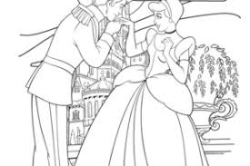 Disney Cinderella And Prince Charming Coloring Page