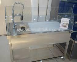 apex custom make supermarket luxury faucet stainless steel sink