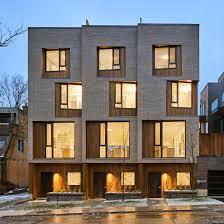 100 Townhouse Facades BatayCsorba Animates Facades Of Toronto Townhouses With Angled