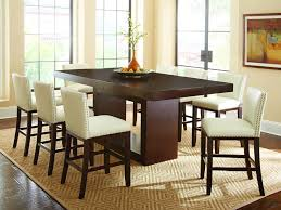 Antonio II Counter Height Table Set With White Nailhead Chairs