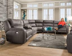 Southern Motion Reclining Furniture by Dazzle 883p Power Headrest Reclining Sectional Sofas And Sectionals