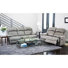 American Freight 7 Piece Living Room Set by Abbyson Clarence Top Grain Leather Reclining 2 Piece Living Room
