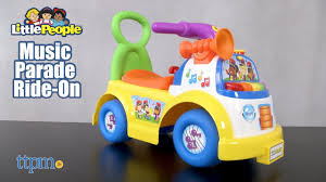 100 Fisher Price Fire Truck Ride On Little People Music Parade From Jakks Pacific YouTube