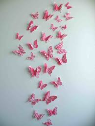 Wall Decoration With Paper Butterfly Art Living Room And Flower Pieces Luulla