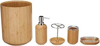 basics bambus badezimmer set rund 5 teilig