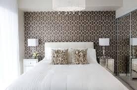 Feminine Bedroom Design With A Brown Wallpaper