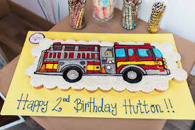 100 Fire Truck Birthday Cake Beverley Mitchells Son Hutton Michael Turns 2 PEOPLEcom