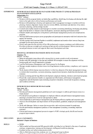 Senior Human Resources Manager Resume Samples | Velvet Jobs