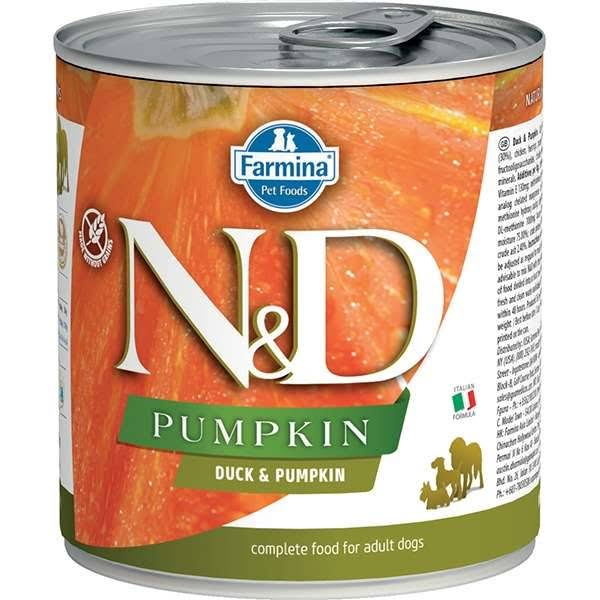 Farmina N and D Complete Adult Dog Food - Duck and Pumpkin, 285g