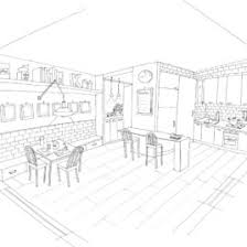 Kitchen Room 27 Buildings And Architecture Printable Coloring