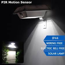 pir motion sensor 150lm bright solar led outdoor gutter