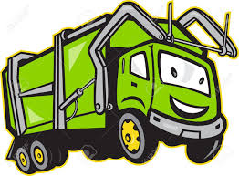 Illustration Of Garbage Rubbish Truck Done In Cartoon Style On ...