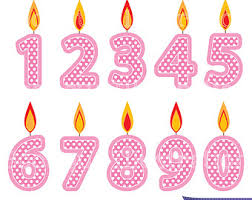 happy birthday candles clipart