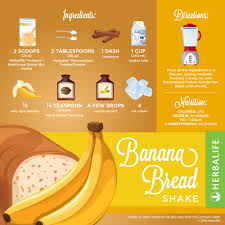 Pumpkin Spice Herbalife Shake Calories by Herbalife Banana Bread Shake Herbalife Pinterest Banana