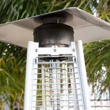 Fire Sense Deluxe Patio Heater Stainless Steel by 42 000btu Deluxe Outdoor Pyramid Propane Glass Tube Dancing Flames