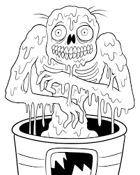 Download Coloring Pages Zombie Free Printable Zombies For Kids Line Drawings
