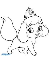 Coloring Pages Of Puppies Palace Pets Disney Book Free For Kids