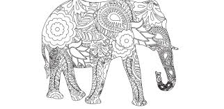 Free Coloring Pages Of Intricate Elephant