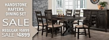 Handstone Rafters Dining Set On Sale