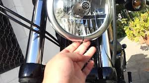 harley sportser iron 883 headlight change to led