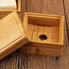seesee u natürliche bambus seifenschale holzseifenschale