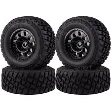 4PCS 1/10 RC Wheel Rims & Tyres Tires 106mm For Traxxas Slash 4x4 ...