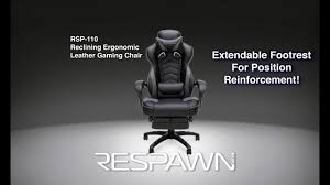 Video Gaming Chair With Footrest by Respawn 110 Racing Style Gaming Chair Reclining Ergonomic