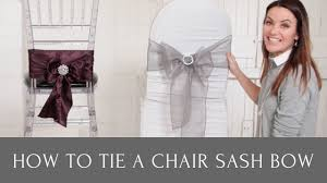 Diamante Chair Sash Buckles by How To Tie A Chair Sash Bow With Chair Sash Buckles And Chair Sash