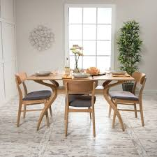 5 Piece Rectangular Dining Set By Knight Home Dinette Table ...