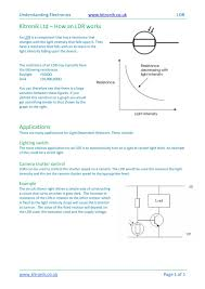 Calameo How A Light Dependent Resistor Ldr Works Definition
