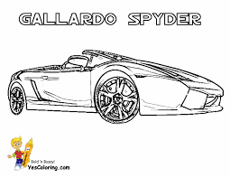 Lamborghini Cars Coloring Spyder At YesColoring