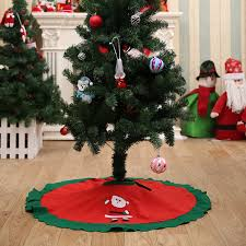 PMYUMAO Decoracion Navidad Christmas Decorations For Home Straight Edge 90CM 36inch Tree Skirt Aprons Xmas D In Skirts From