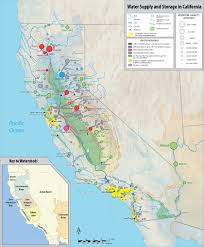 Map Of Water Storage And Delivery Facilities As Well Major Rivers Cities In The State California Central Valley Project Systems Are Red